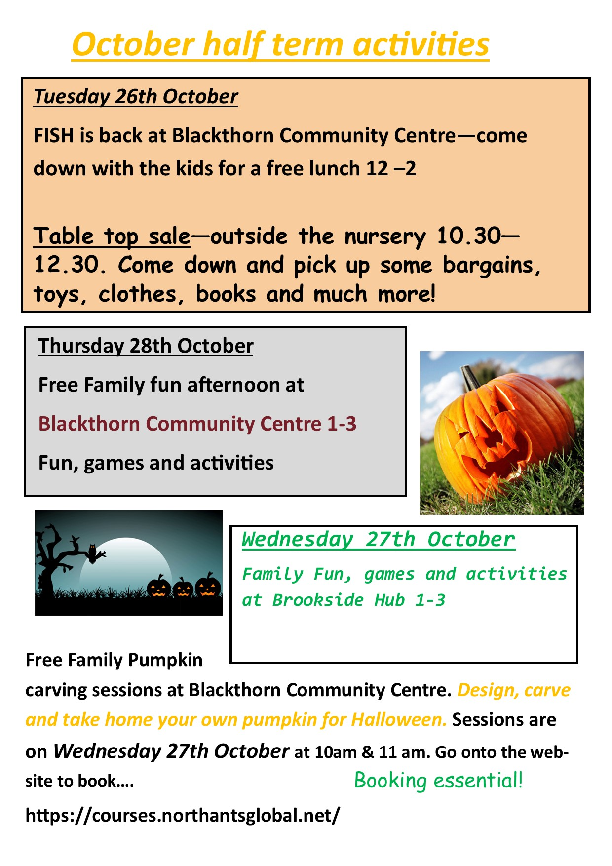 What's on over October half term..